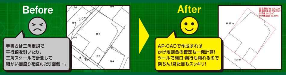 土地評価サポート簡易CADソフト  AP-CAD